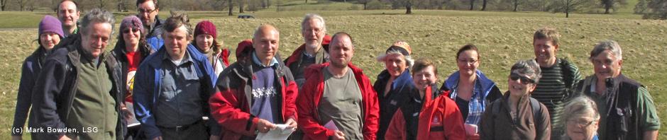The LSG explore the landscape of Chatsworth, April 2013